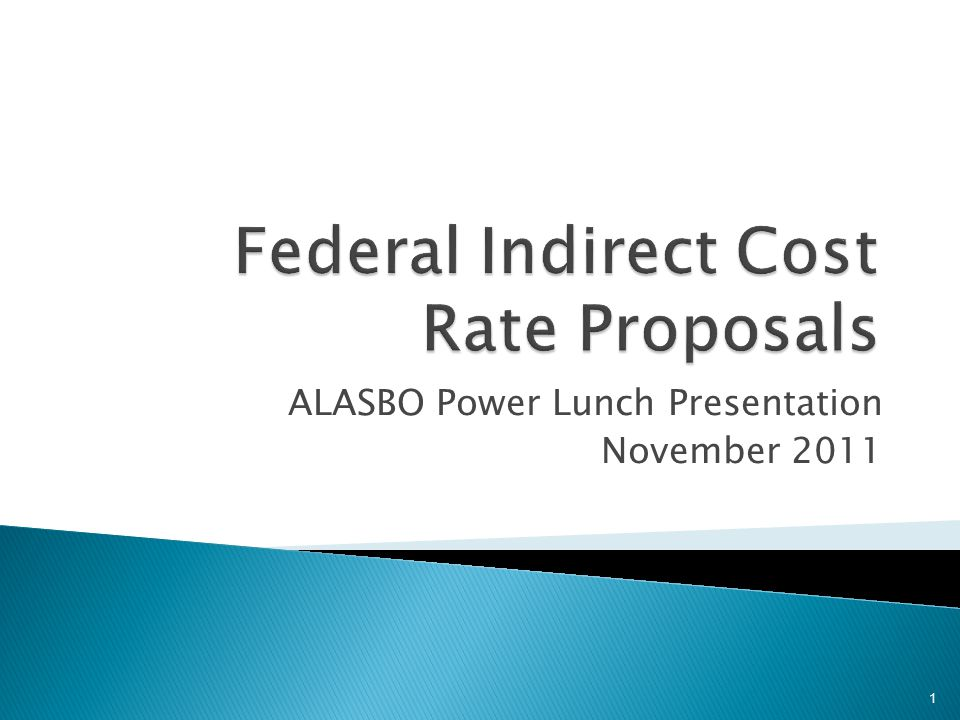 ALASBO Power Lunch Presentation November 2011 1