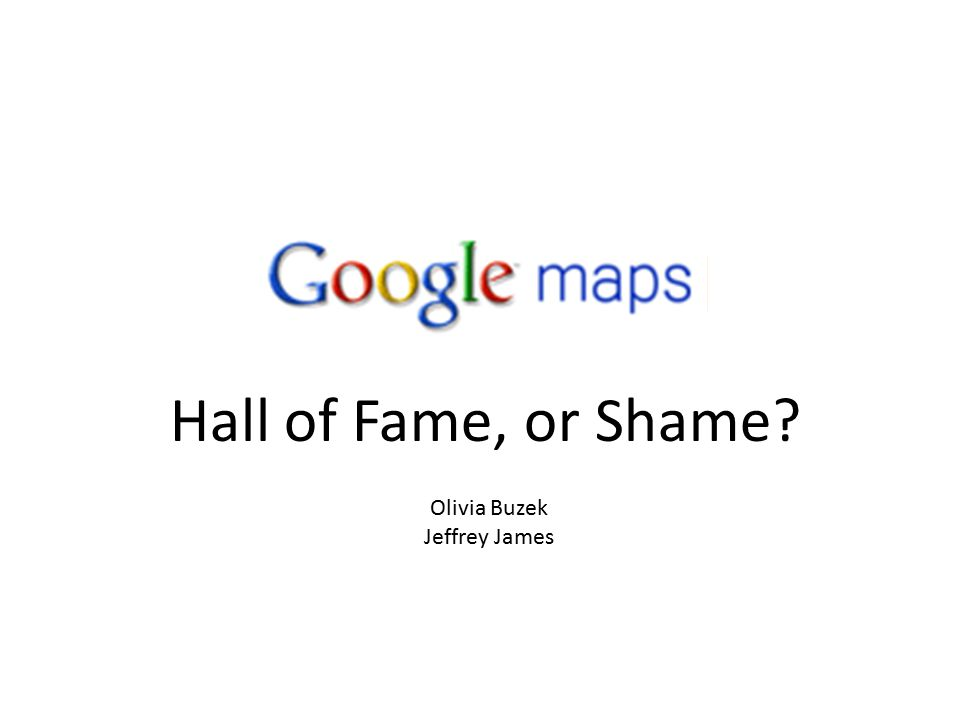 Hall of Fame, or Shame Olivia Buzek Jeffrey James