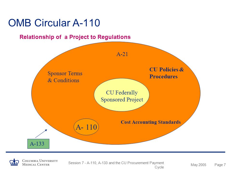 May 2005 Session 7 - A-110, A-133 and the CU Procurement/ Payment Cycle Page 87 Accounts Payable Cycle Other Initiatives…….
