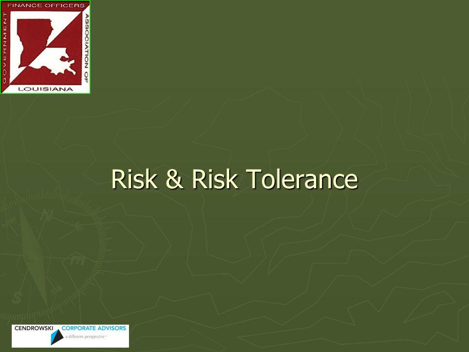 Risk & Risk Tolerance