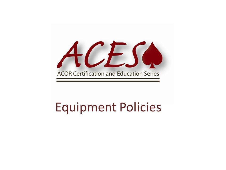 Equipment Policies