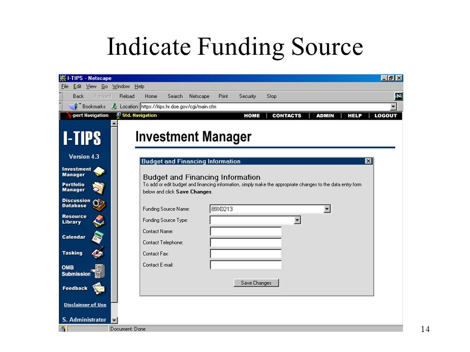 14 Indicate Funding Source