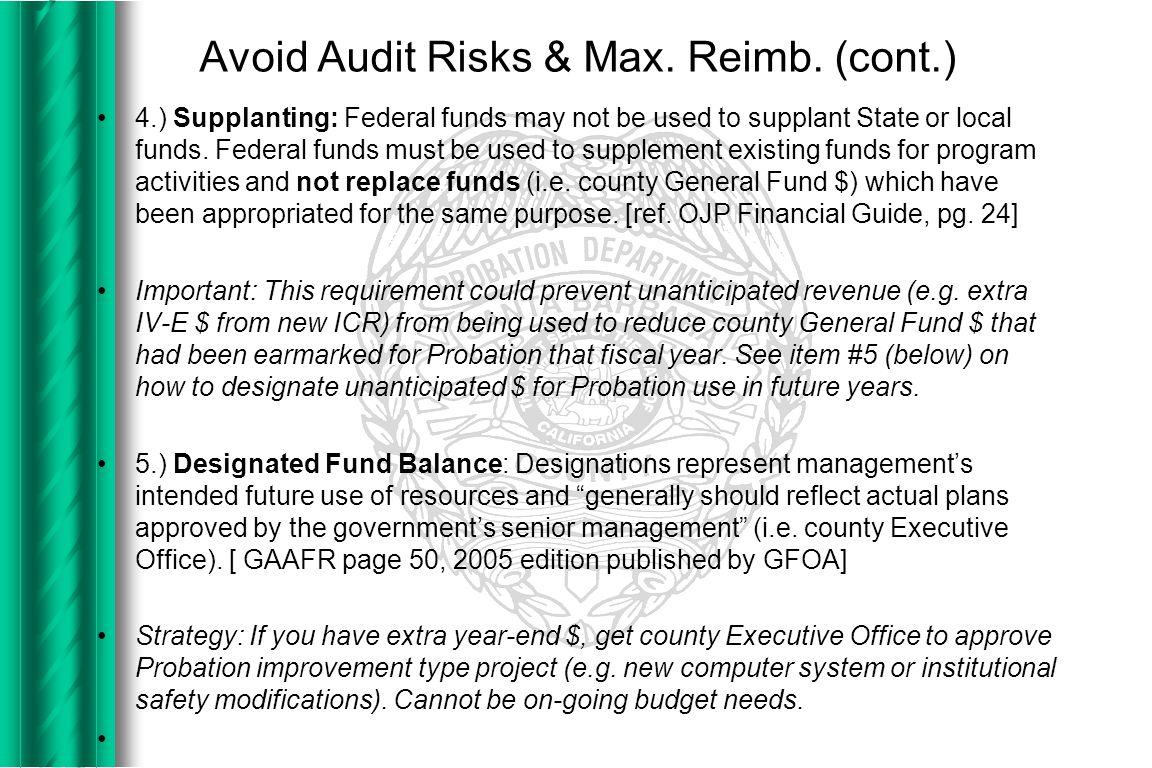 Avoid Audit Risks & Max. Reimb.