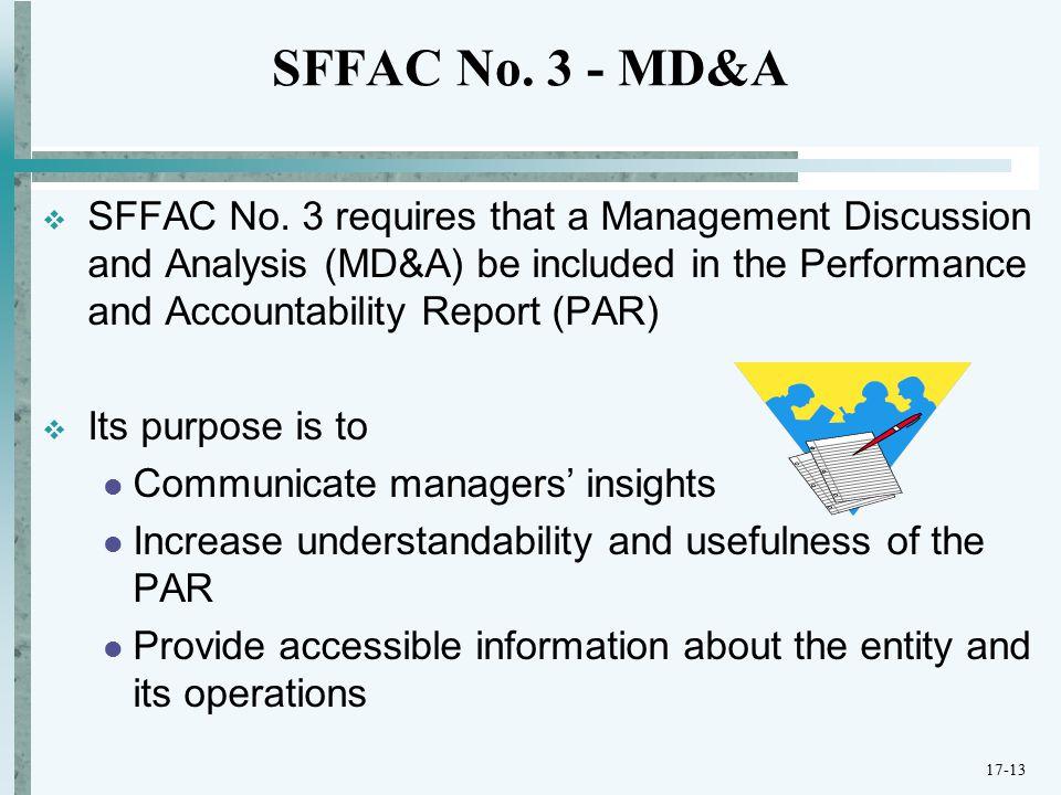 SFFAC No. 3 - MD&A  SFFAC No.