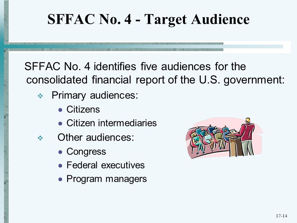 SFFAC No. 4 - Target Audience SFFAC No.