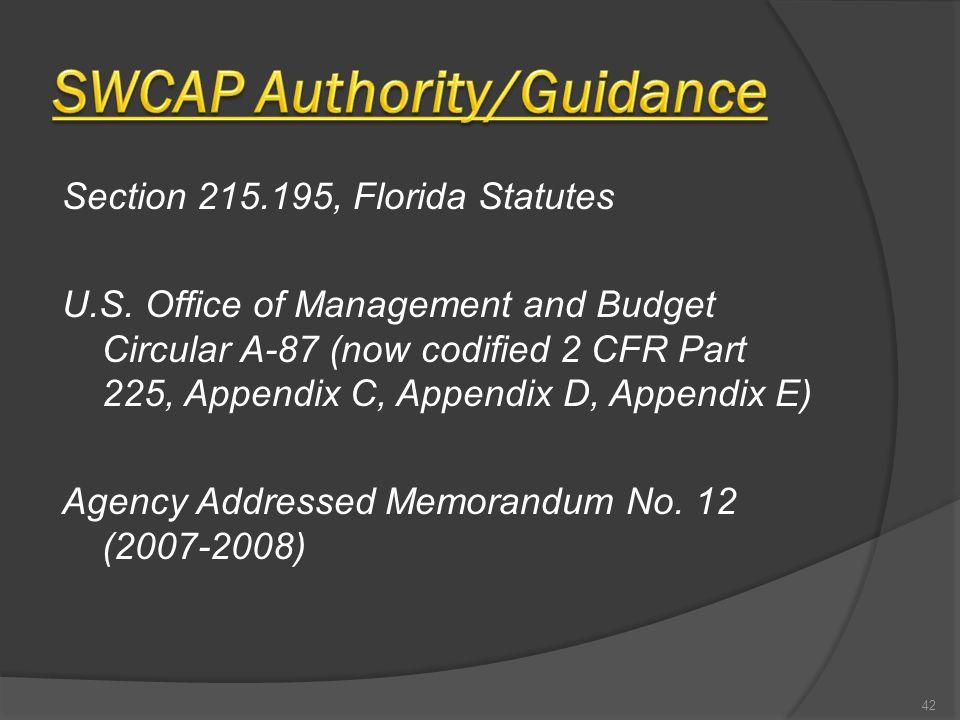Section 215.195, Florida Statutes U.S.