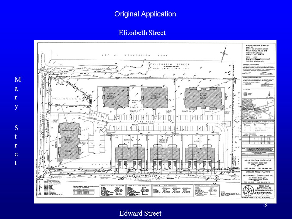 3 Original Application Edward Street Elizabeth Street Mary StretMary Stret