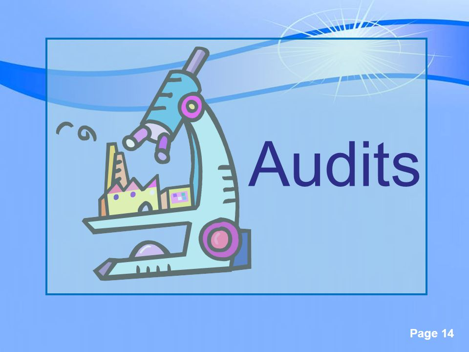 Page 14 Audits