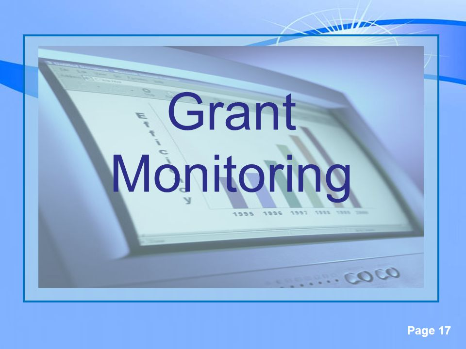 Page 17 Grant Monitoring