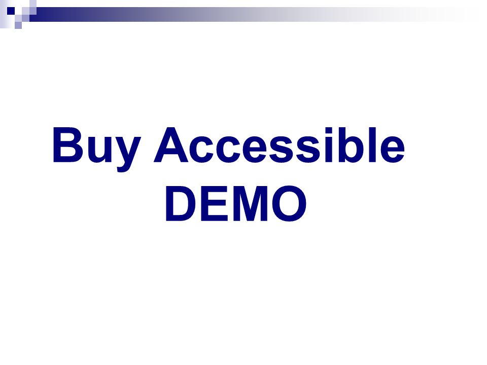 Buy Accessible DEMO