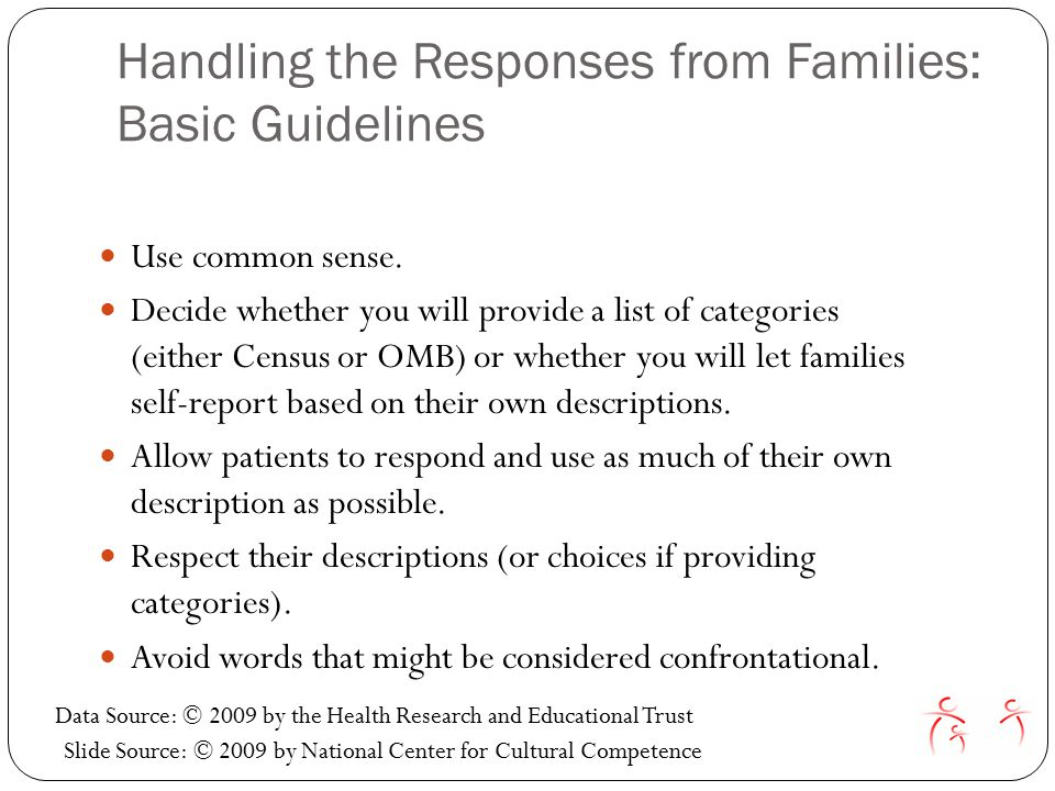 Handling the Responses from Families: Basic Guidelines Use common sense.