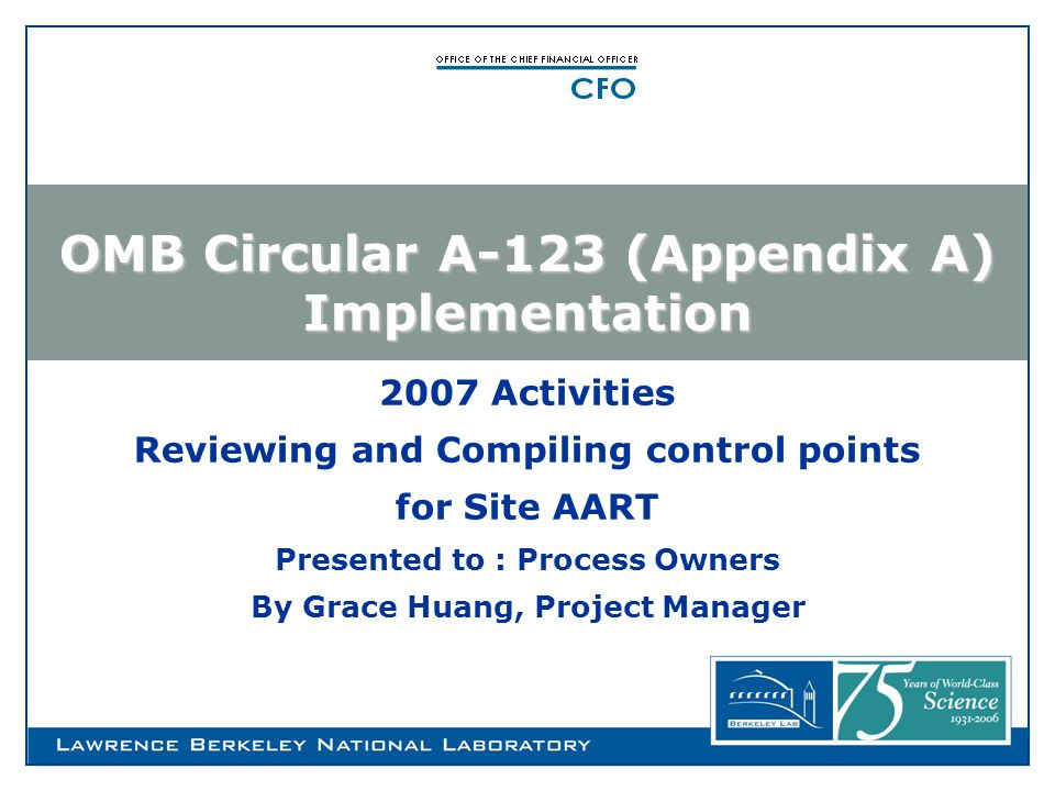 What is OMB Circular A-123.
