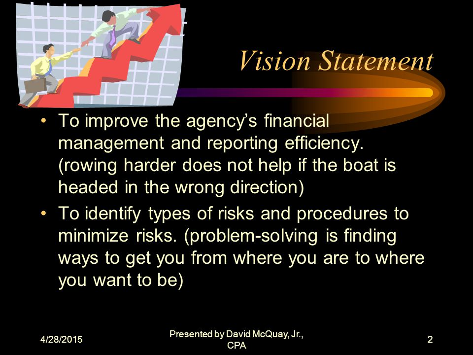 4/28/2015 Presented by David McQuay, Jr., CPA 1 Non-Profit Financial Management Florida Non-profit Housing, Inc.