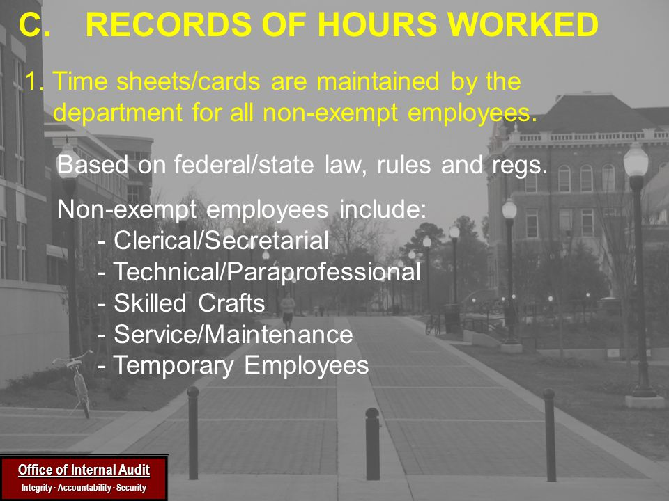 Based on federal/state law, rules and regs.