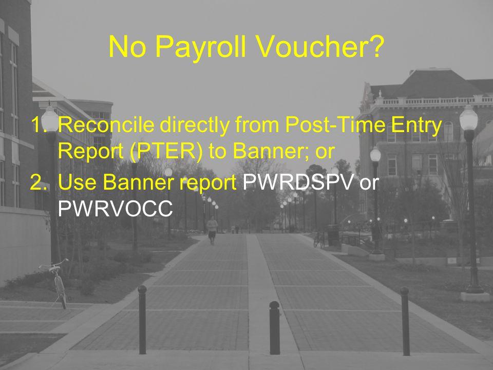 No Payroll Voucher.