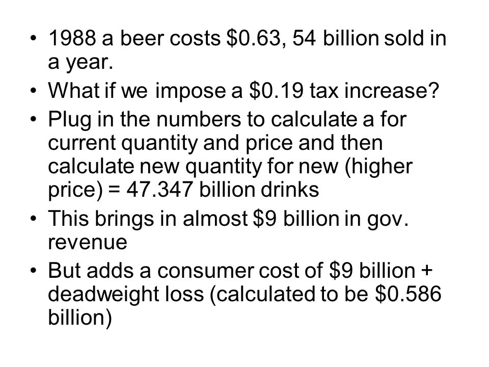 1988 a beer costs $0.63, 54 billion sold in a year.