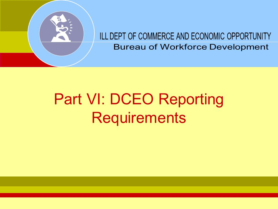 Part VI: DCEO Reporting Requirements