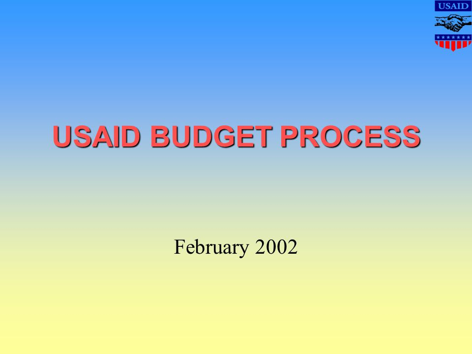USAID BUDGET PROCESS February 2002