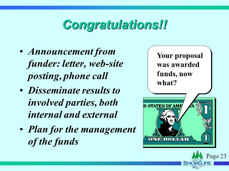 Page 23 Congratulations!.