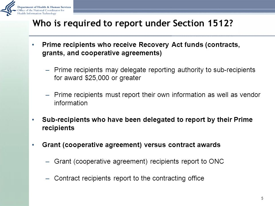 Who is required to report under Section 1512.