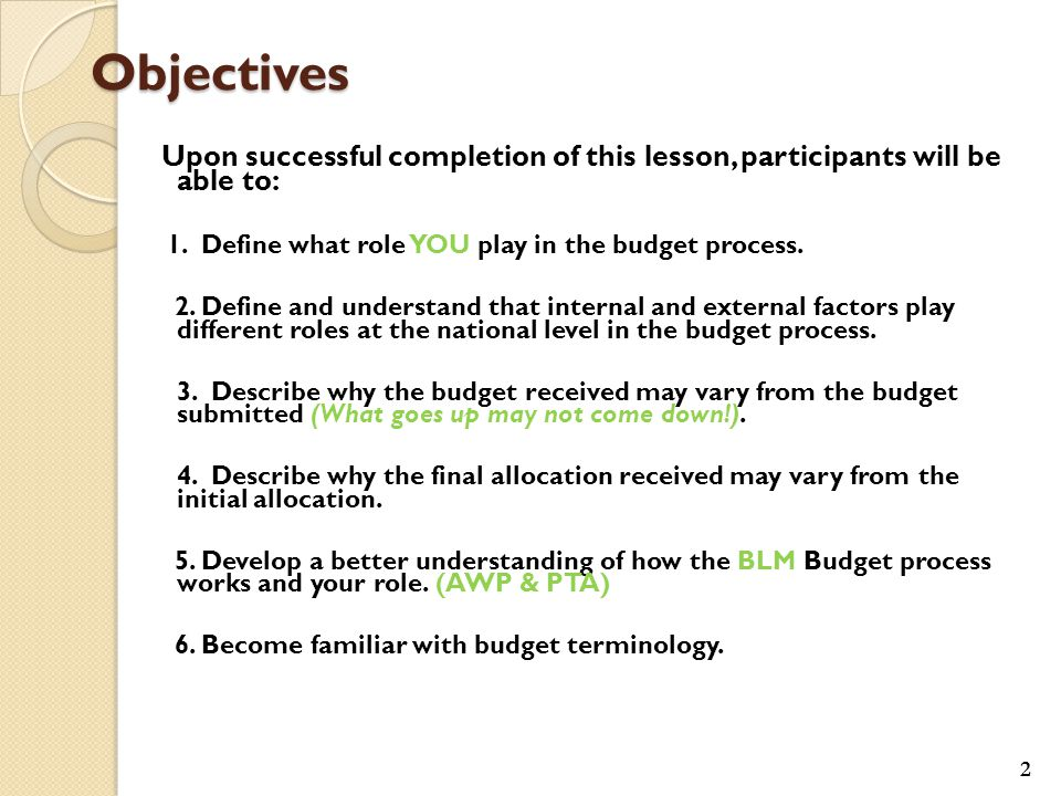 Part 3: The Congress develops its budget – based on input from the Administration and its own policy and fiscal goals.