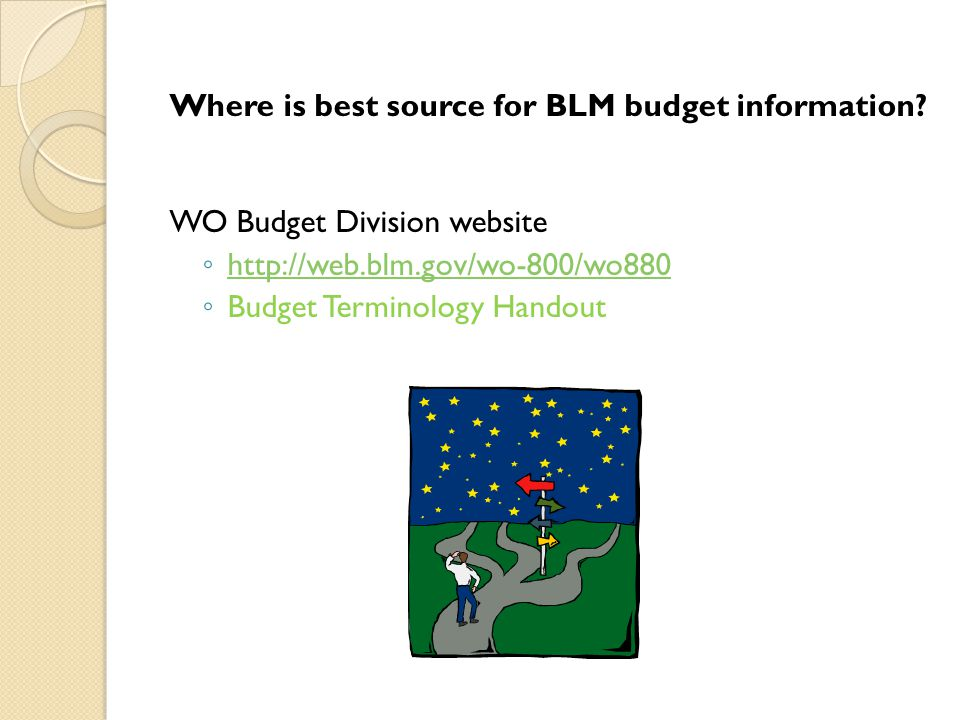 39 Where is best source for BLM budget information.
