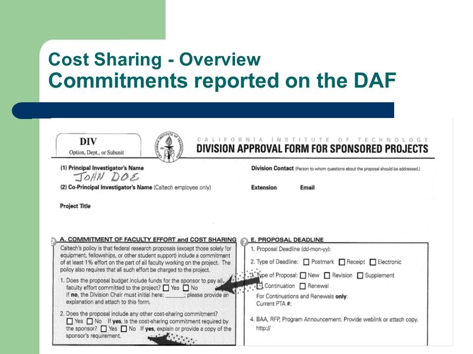Cost Sharing - Final Review Project Accounting: – confirms cost sharing commitment is met ZOACS expenditures = cost share commitment – verifies faculty effort from ITD Balance reports Faculty effort = % on main award + % on ZOACS – requests new CS PTA/s for after-the-fact cost sharing situations  faculty salary is < committed/reported level of effort  reports cost sharing expenditures to sponsor