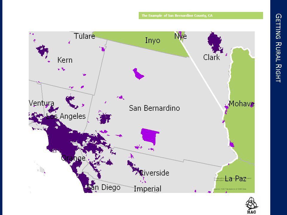 The Example of San Bernardino County, CA