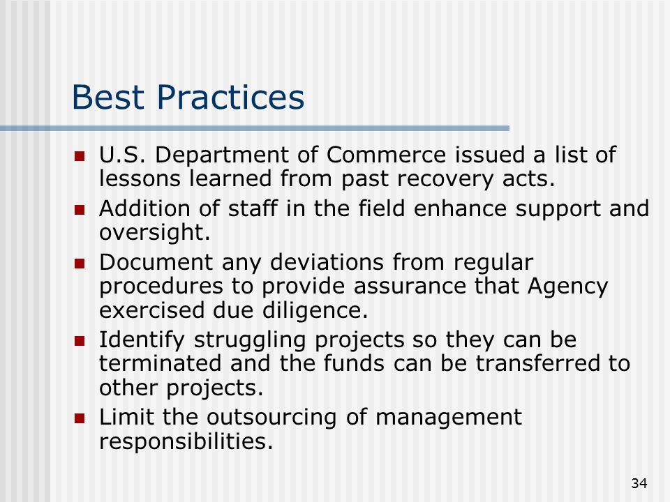 34 Best Practices U.S.