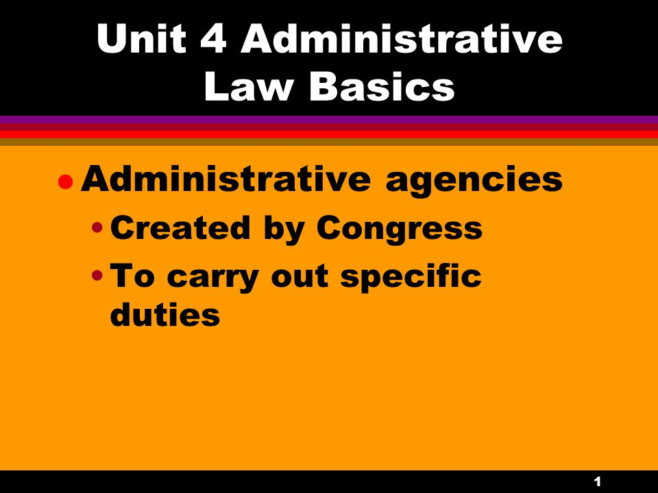 2 Duties of Administrative Agencies l Rule making (legislative) l Adjudication of individual cases (judicial) l Administrative activities (executive)