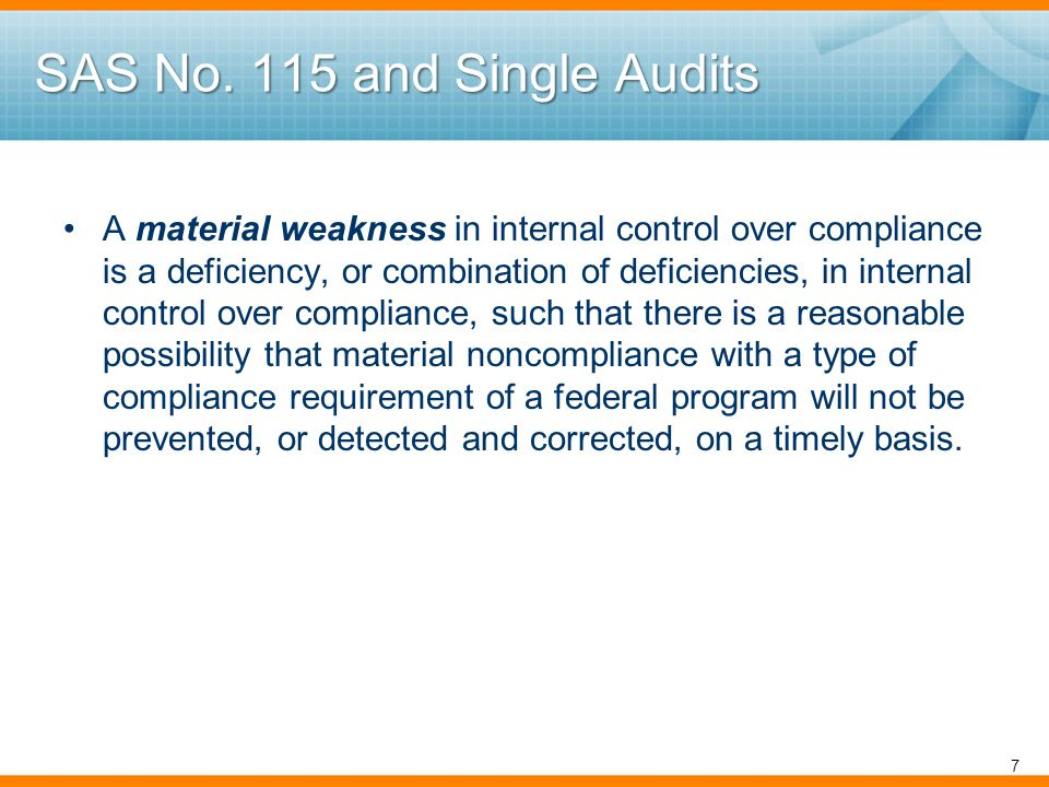 Single Audits for Periods Ending on/after June 30, 2010 Impact of Recovery Act on 2010 Compliance Supplement: –Guidance from 2009 CS Addendum #1 incorporated (e.g., in Part 3) –Updated Appendix VII Low-Risk Auditee Status Extensions Loans Major program determination for ARRA funded awards –Changes to other parts predominately due to ARRA related requirements.
