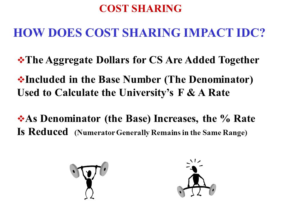 COST SHARING HOW DOES COST SHARING IMPACT IDC.