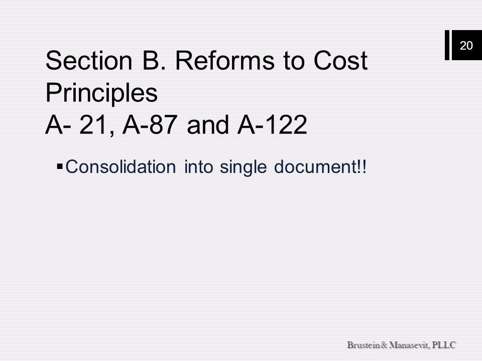 20 Brustein & Manasevit, PLLC Section B.