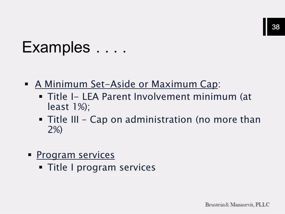38 Brustein & Manasevit, PLLC Examples....