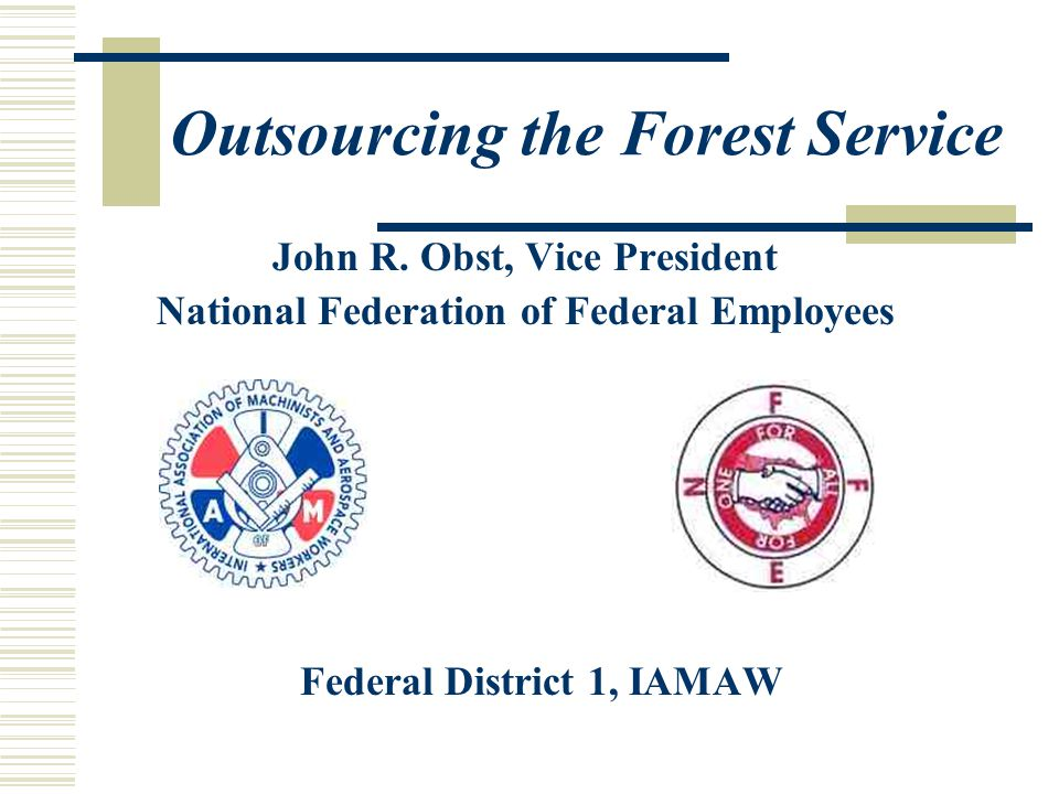 Outsourcing the Forest Service John R.