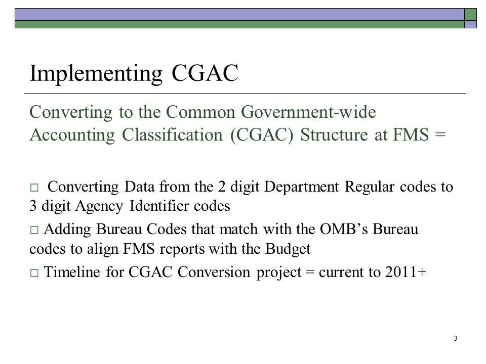 14 FMS Contacts  Holden Hogue – Budget holden.hogue@fms.treas.govholden.hogue@fms.treas.gov, 202-874-6257  Robin Gilliam – CGAC, FMLoB Standardization robin.gilliam@fms.treas.govrobin.gilliam@fms.treas.gov, 202-874-9133  Ed Coia – Enterprise Data Architecture, XML Schema ed.coia@fms.treas.goved.coia@fms.treas.gov, 202-874-7039