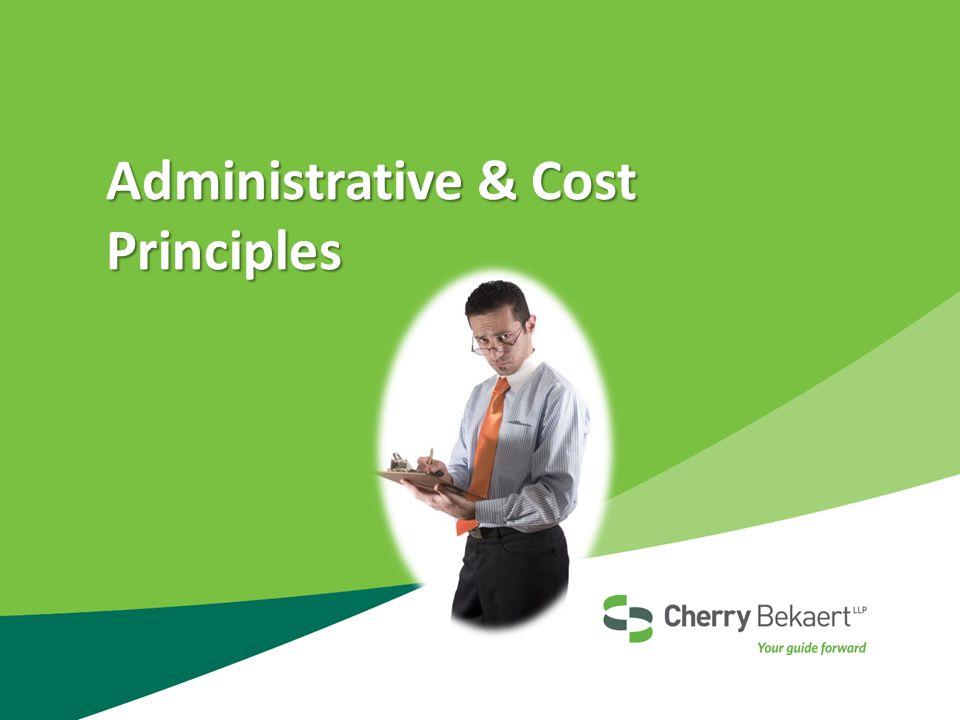 Administrative & Cost Principles