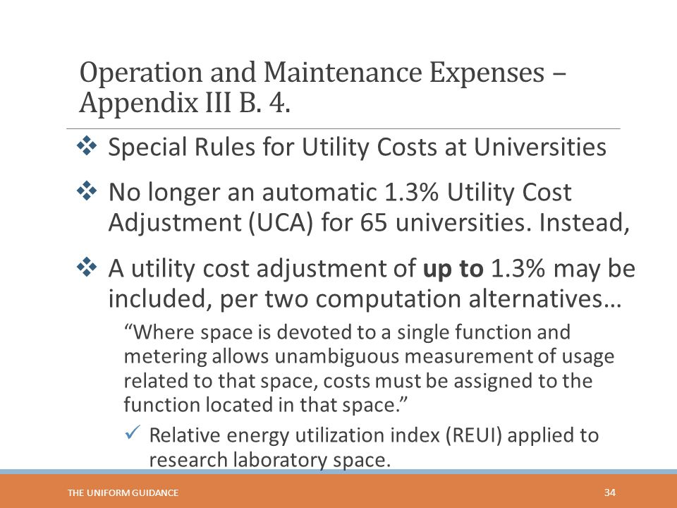 Operation and Maintenance Expenses – Appendix III B.