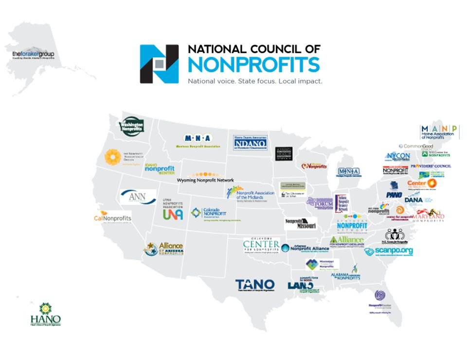 Connect with the National Council of Nonprofits  Through West Virginia Nonprofit Association  On Twitter @NatlCouncilNPs and @buildnpcapacity  By signing up for Nonprofit Advocacy Matters and Nonprofit Knowledge Matters at www.councilofnonprofits.org/connect