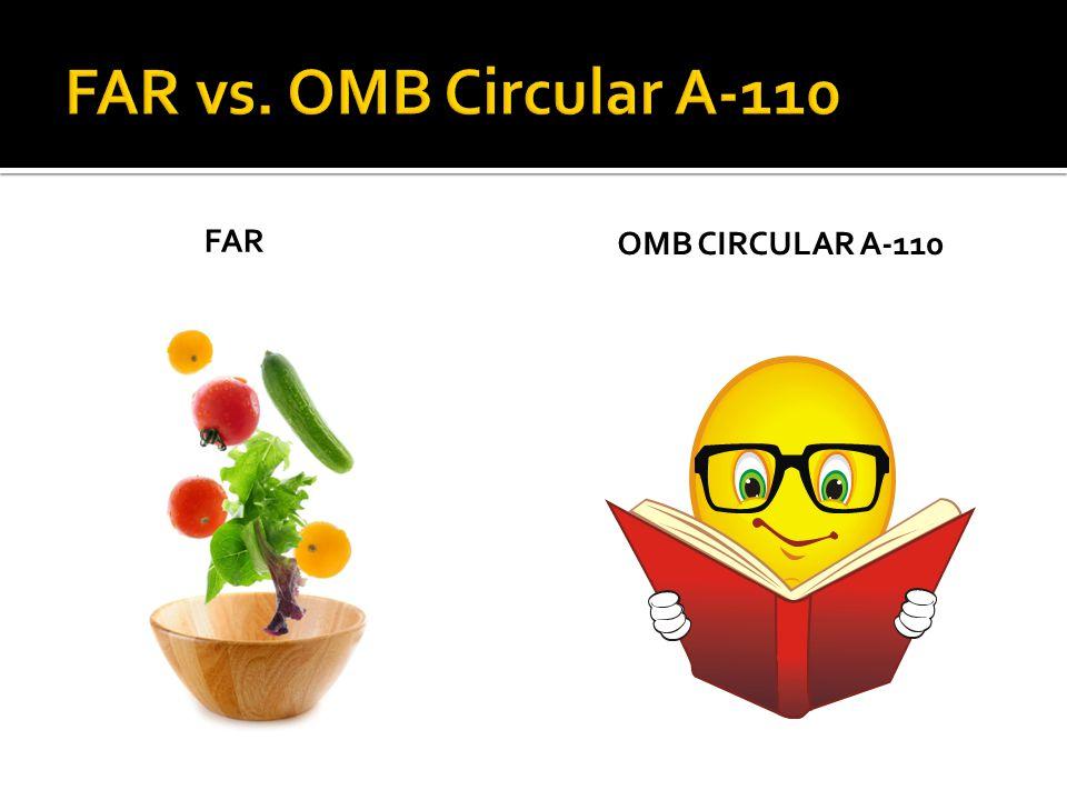 FAR OMB CIRCULAR A-110
