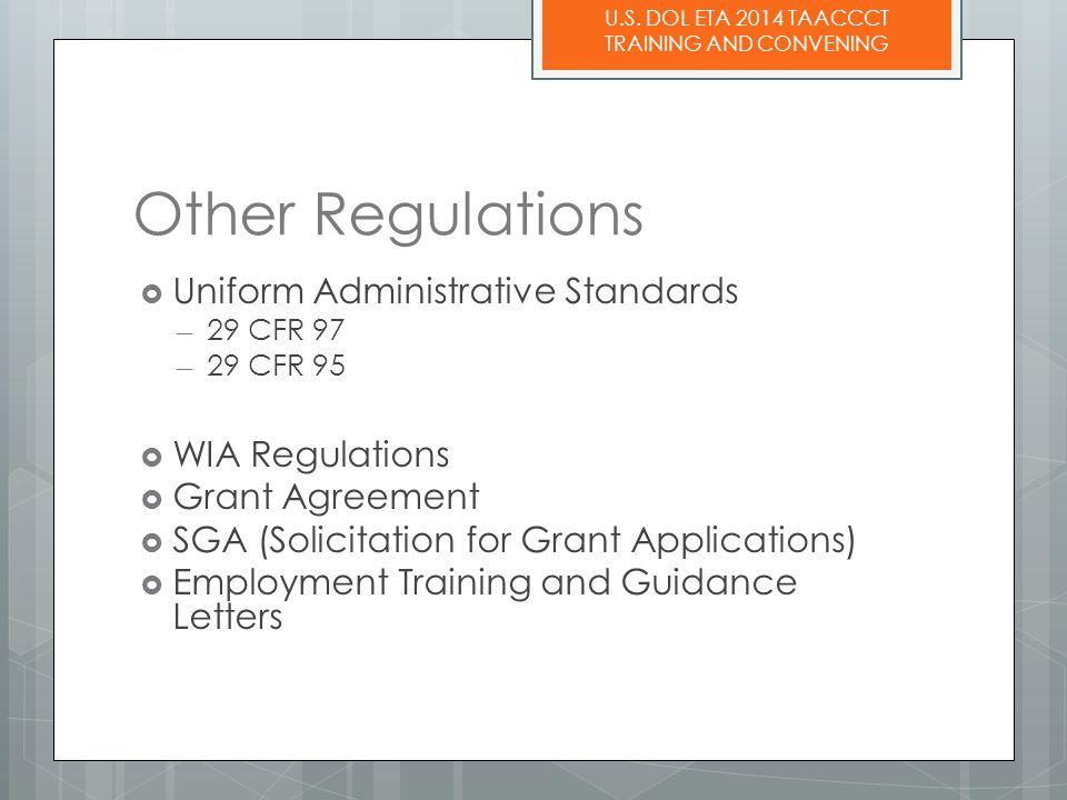 U.S. DOL ETA 2014 TAACCCT TRAINING AND CONVENING Question