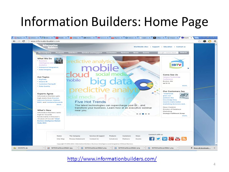Information Builders: Home Page 4 http://www.informationbuilders.com/