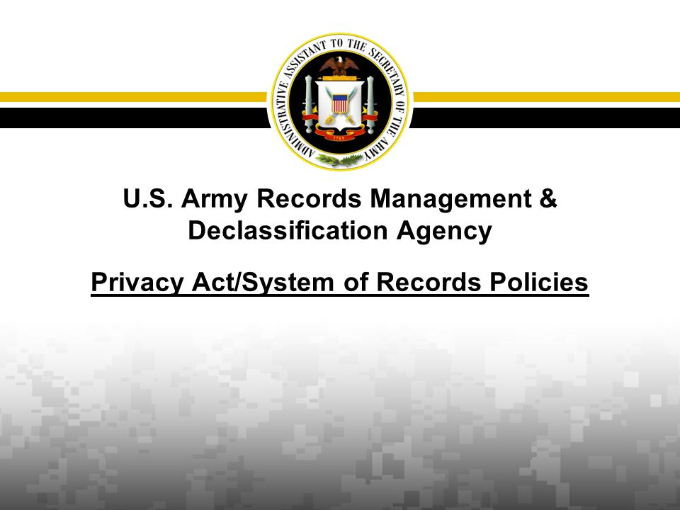 Office of the Administrative Assistant to the Secretary of the Army www.oaa.army.mil To brief the SORN process, clarify when an OMB control number is required and discuss how an OMB control number is obtained through the Army Information Management Control Officer (IMCO) process Purpose 07/30/2013 2