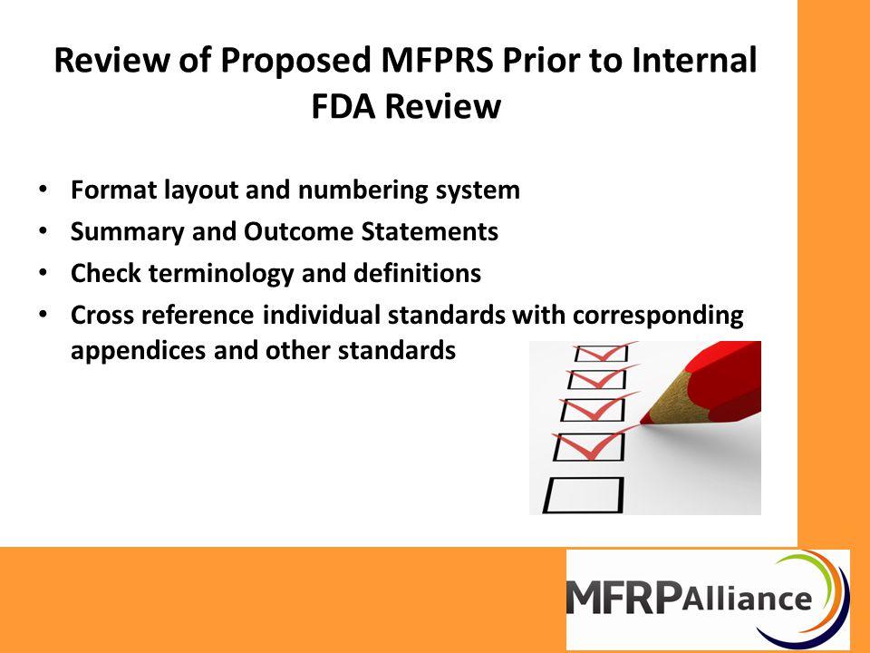 MFRPS Format (Numbering)