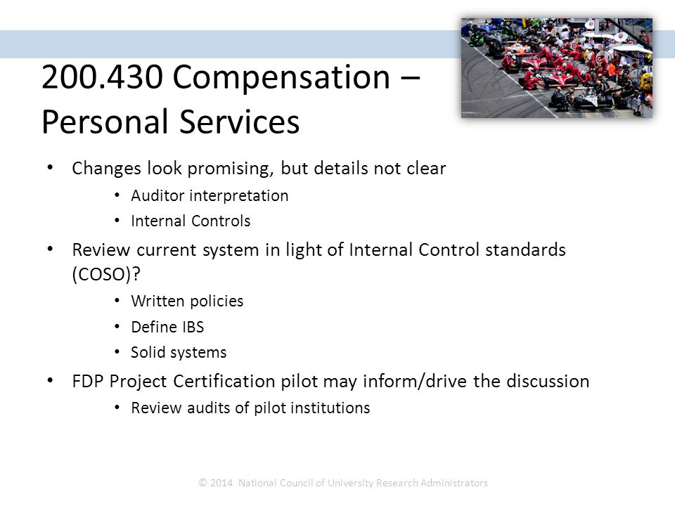 Changes look promising, but details not clear Auditor interpretation Internal Controls Review current system in light of Internal Control standards (C