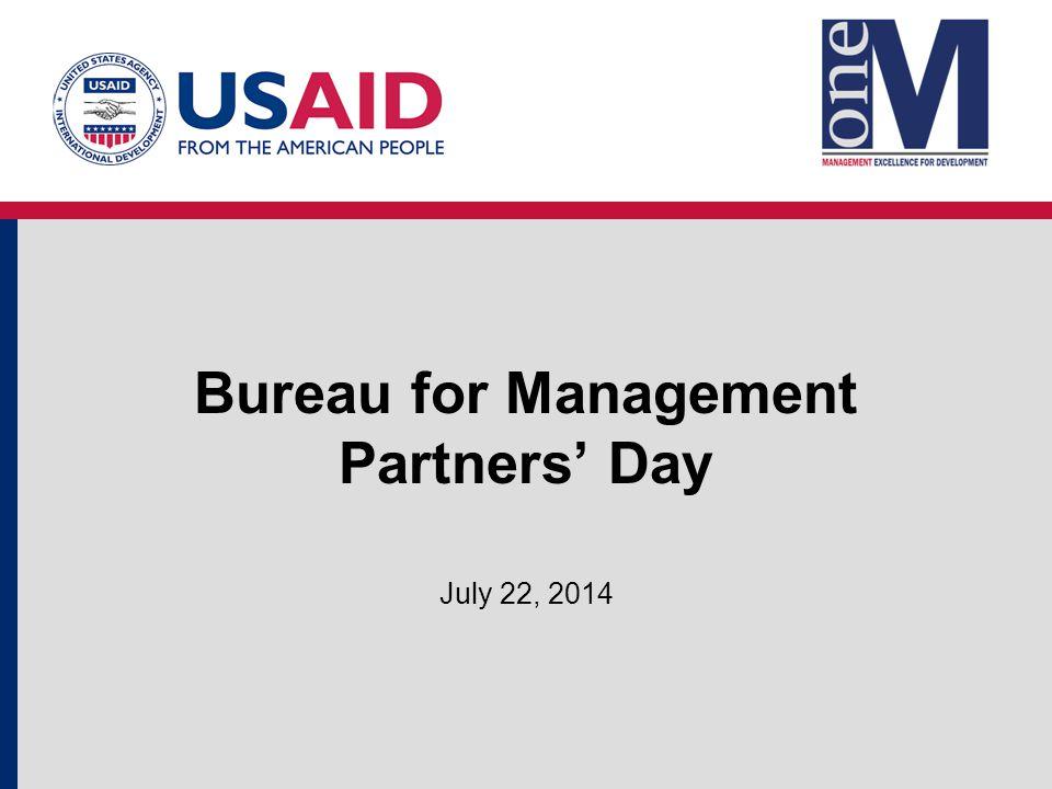 Bureau for Management Partners' Day July 22, 2014