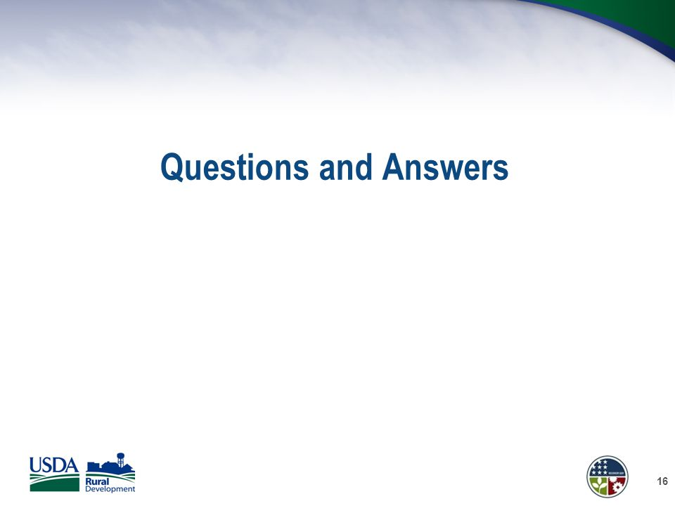 Questions and Answers 16