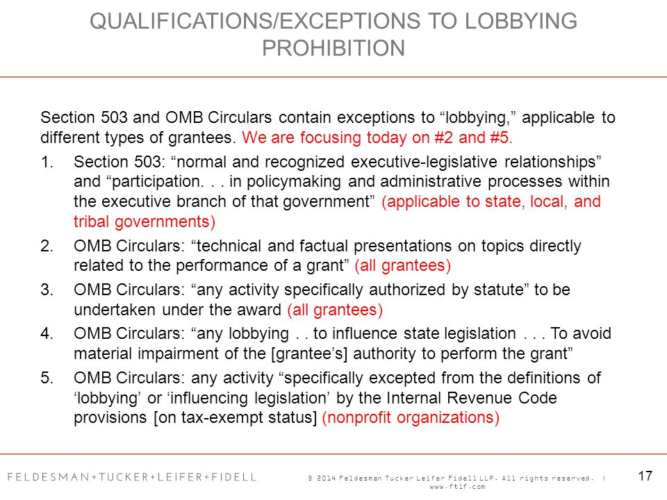 """© 2014 Feldesman Tucker Leifer Fidell LLP. All rights reserved. 