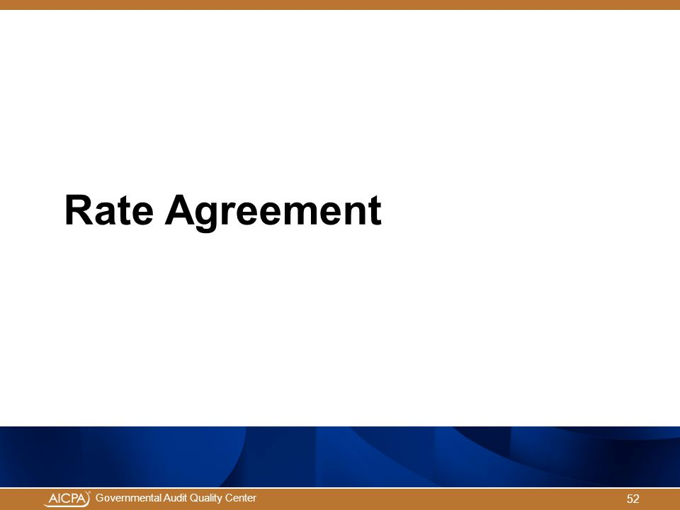 Governmental Audit Quality Center Rate Agreement 52