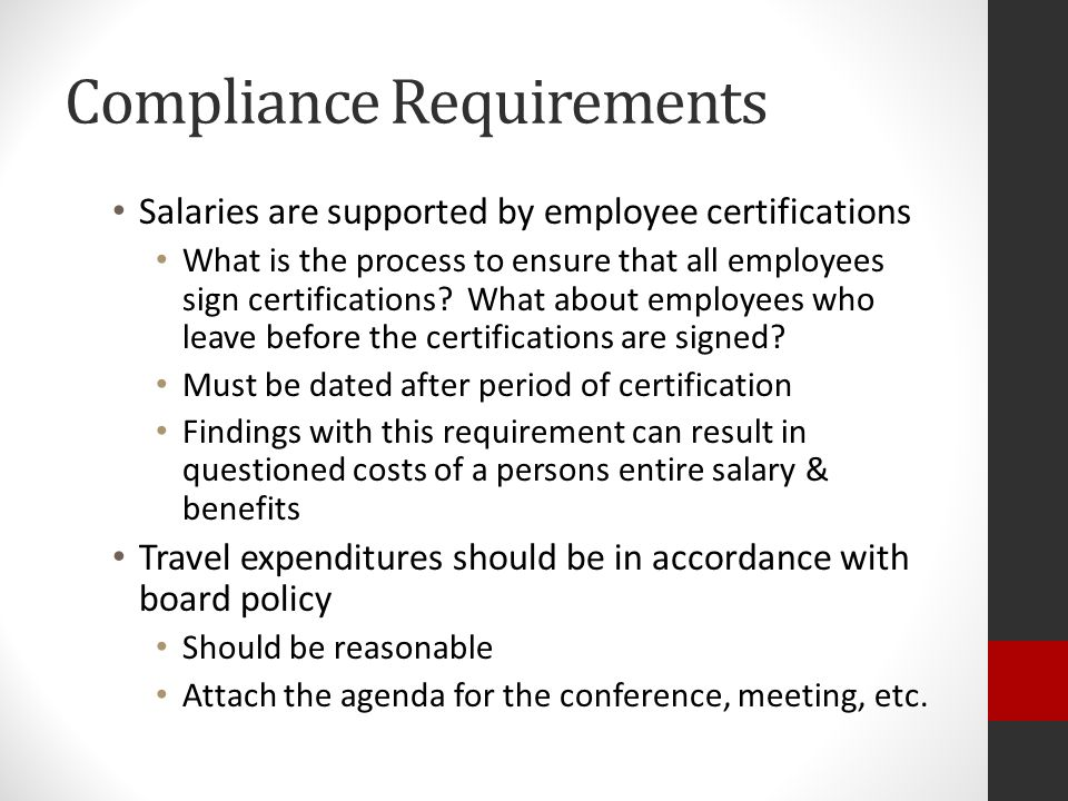 Compliance Requirements Special Test and Provisions Comparability Who prepares the report.